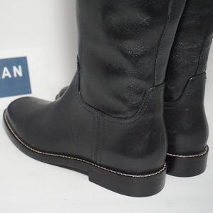 Cole Haan Shoes - Cole Haan Knee High Riding Boots Black Leather 5.5